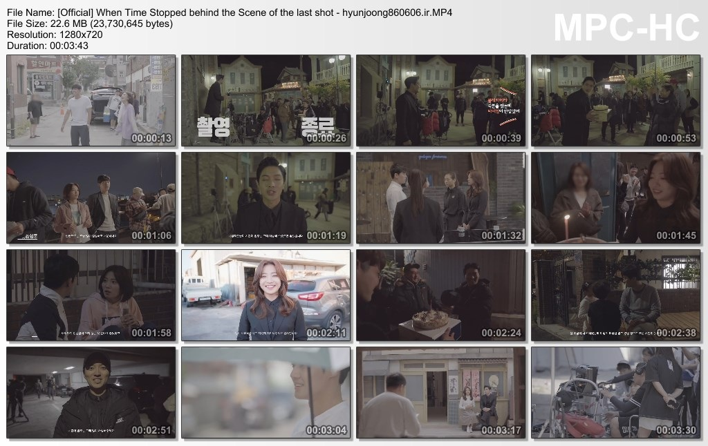 Official] When Time Stopped behind the Scene of the last shot - hyunjoong860606.ir]